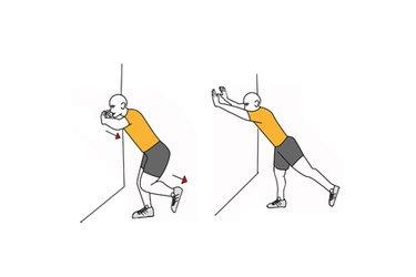 Extension de brazos y pierna en apoyo