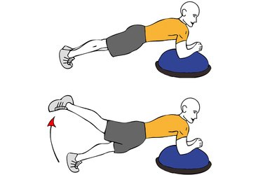 Extensión de cadera antebrazos apoyados sobre bosu