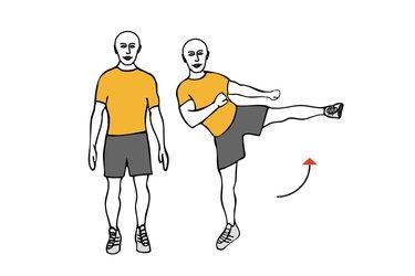 Elevación lateral de pierna de pie