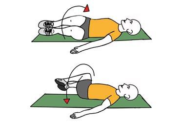 Rotacion de caderas acostado boca arriba
