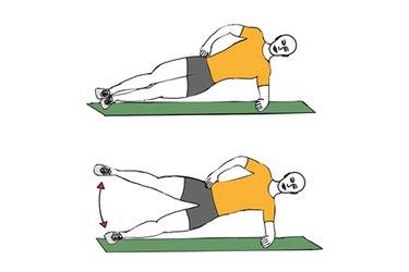 Abduccion de cadera en equilibrio lateral