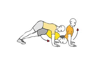 Flexión de brazos y extensión de tronco