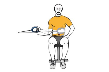 Rotación interna de hombro con cable-polea sentado