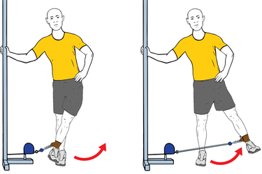 Abducción de cadera con cable-polea de pie