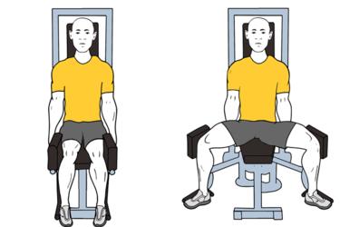 Abducción de cadera en maquina sentado