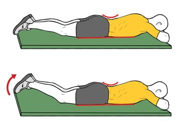 Activación multifidus en pronación