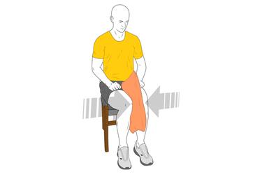 Aducción de cadera sentado con almohada