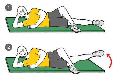 Aducción de una pierna en el suelo