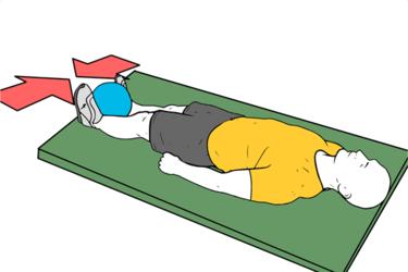 Aducctor isométrico con pelota tumbado