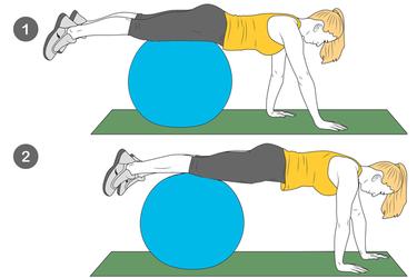 Andar con brazos: Pelota pilates