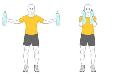 Aperturas horizontales con botellas de agua
