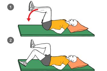 Bajada alterna de una pierna flexionada en 90º