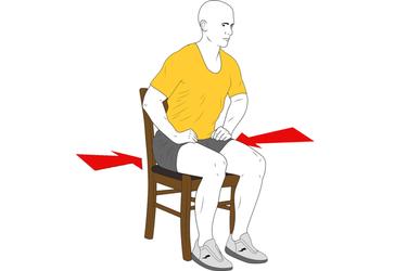 Contracción isométrica de gluteos sentado