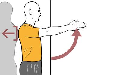 Control escapular con flexión de hombro