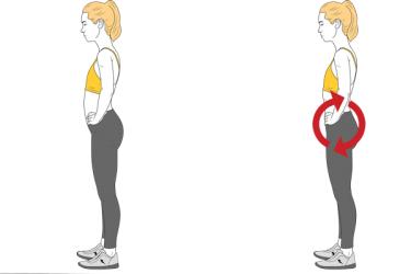 Corrección postural: Basculación pélvica