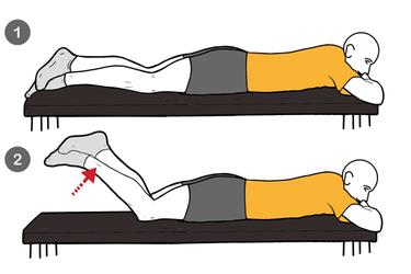 Curl femoral con ayuda de la otra pierna