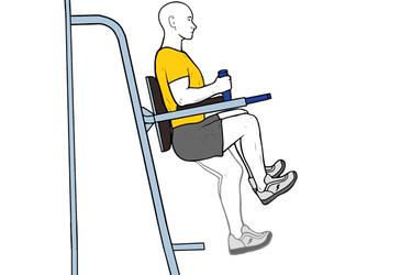 Elevación de piernas flexionadas en máquina