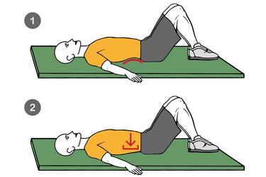Eliminación curvatura lumbar con contracción abdominal