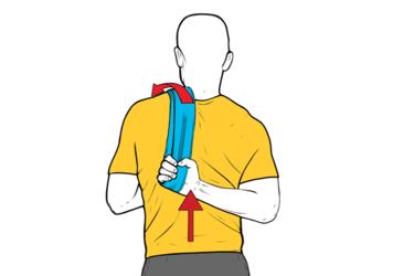 Estiramiento asistido: rotación interna hombro