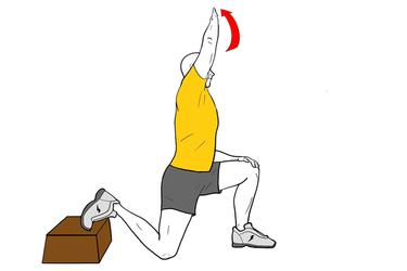 Estiramiento Banda iliotibial con flexión de cadera