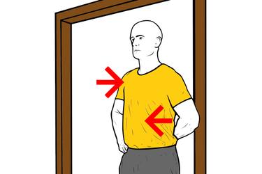 Estiramiento hombro: rotación interna