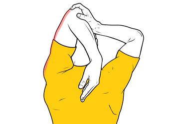 Estiramiento de triceps detrás de la cabeza