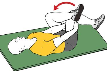 Estiramiento del piramidal con piernas cruzadas