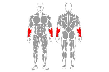 Estiramiento de antebrazo de pie
