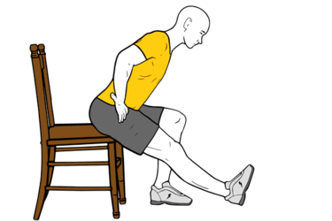 Estiramiento femoral sentado