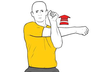 Estiramiento hombro posterior