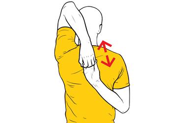 Estiramiento de hombro: rotación interna