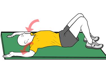 Estiramiento bilateral de hombros con rotación externa