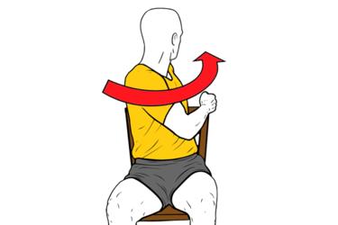 Rotación torácica sentado