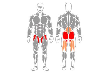 Extensión de cadera de pie con cable-polea