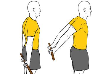 Extensión de hombros asistida