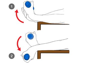 Extensión excentrica de muñeca con carga