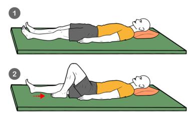 Flexión activa de rodilla