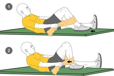 Flexión de cadera y rodilla asistida