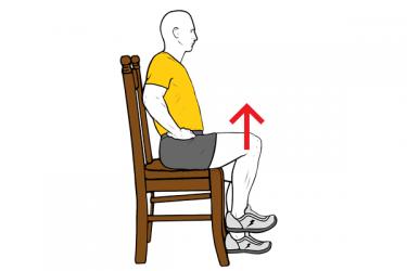 Flexión de cadera sentado
