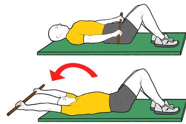 Flexión de hombros activa con pica