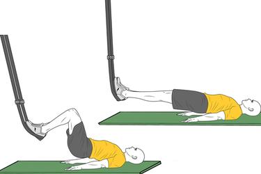 Flexión de piernas con Trx