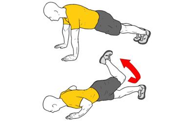 Flexiones con extensión y giro de cadera o Escorpion