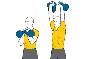 Kettlebell: Press de hombros