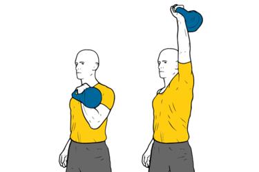 Kettlebell: Press de hombro a una mano