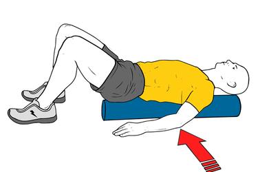 Masaje de extensores espinales con roller foam