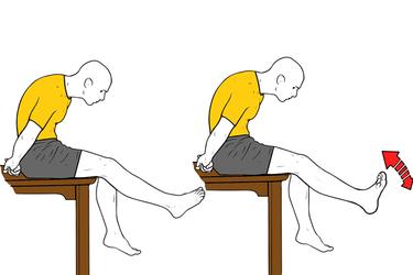 Movilización del nervio peroneo : Flexión y extensión de tobillo