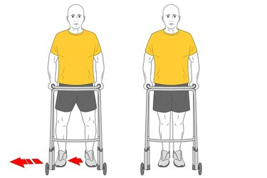 Pasos laterales con andador