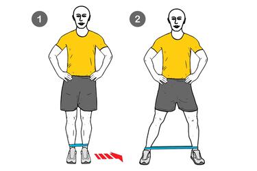 Pasos laterales con banda elástica