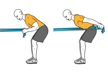 Patadas de triceps con banda elástica