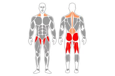 Peso muerto rumano o con piernas estiradas
